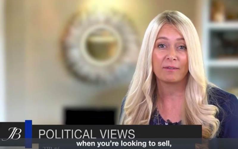 Real Estate Tip #4 Political Views With Jamie Bevelacqua